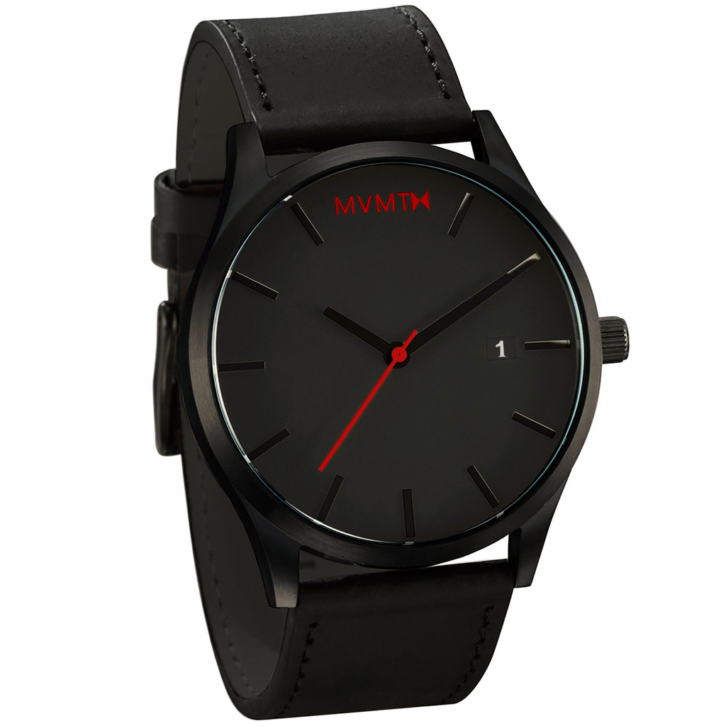 Black black leather mvmt watch hurry hurry store for Mvmt watches